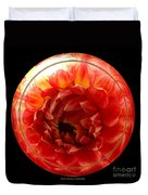 Apricot Orange Dahlia Under Glass Duvet Cover