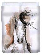 Arabian Horse Ink Drawing 2 Duvet Cover