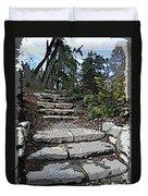 Arboretum Stairway Duvet Cover by Tim Allen