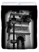 Arc De Triomphe - Black And White Duvet Cover