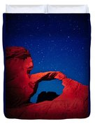 Arch In Red And Blue Duvet Cover