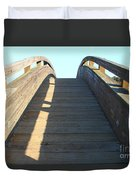 Arched Pedestrian Bridge At Martinez Regional Shoreline Park In Martinez California . 7d10526 Duvet Cover