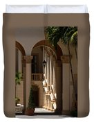Arches And Columns At The Biltmore Hotel Duvet Cover