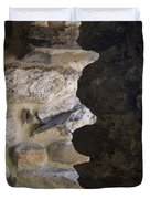 Architectural Detail Of Stone Work Duvet Cover