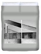Architecture 1 In Black And White Duvet Cover