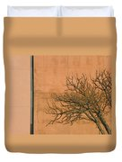 Architecture With Winter Tree Duvet Cover by Lenore Senior
