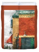 Arcitecture  Painted Effect Duvet Cover