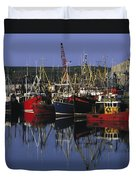 Ardglass, Co Down, Ireland Fishing Duvet Cover