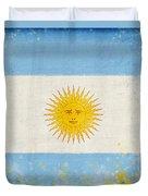 Argentina Flag Duvet Cover by Setsiri Silapasuwanchai