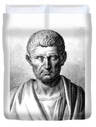 Aristotle, Ancient Greek Polymath Duvet Cover by Science Source