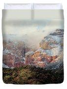 Arizona Snowstorm Duvet Cover