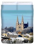 Armagh Cathedral In The Snow Duvet Cover