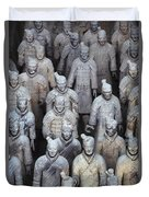 Army Of Terracotta Warriors In Xian Duvet Cover