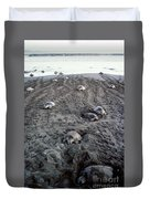 Arribada Of Olive Ridley Turtles, Costa Duvet Cover