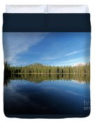Arrow At Summit Lake Duvet Cover