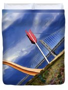 Arrow Through Bay Bridge Duvet Cover