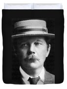 Arthur Conan Doyle, Scottish Author Duvet Cover