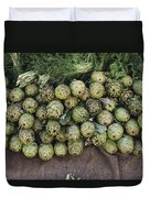 Artichokes And Greens Arranged Duvet Cover