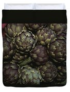 Artichokes At A Market In Provence Duvet Cover