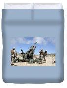 Artillerymen Fire-off A Round Duvet Cover