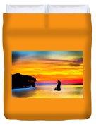 Artistic Conception Eagle Sundown Duvet Cover