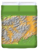 Artistic Map Of Southern Appalachia Duvet Cover