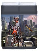 Artists Concept Of A City Of The Future Duvet Cover