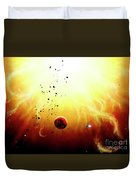 Artists Concept Of A Manned Expedition Duvet Cover by Brian Christensen