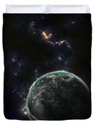 Artists Concept Of A Terrestrial Planet Duvet Cover by Tomasz Dabrowski