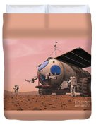 Artists Concept Of How A Martian Duvet Cover