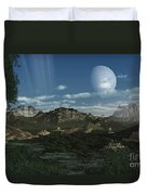 Artists Concept Of Mayan Like Ruins Duvet Cover