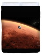 Artists Concept Of Nasas Mars Science Duvet Cover
