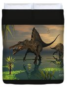 Artists Concept Of Spinosaurus Duvet Cover