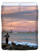As He Caught His Dinner .... Duvet Cover