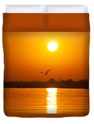 As The Seagull Heads Home Duvet Cover