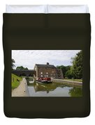 Ashby Canal At Moira Furnace Duvet Cover