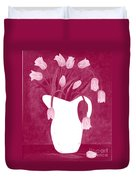 Ashes Of Roses Tulips Duvet Cover