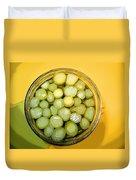 Asparagus In A Jar Duvet Cover