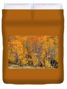 Aspen Forest In Fall - Wasatch Mountains - Utah Duvet Cover