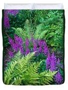Astilbe And Ferns Duvet Cover