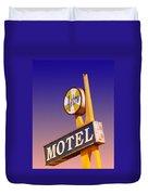 Astro Motel Retro Sign Duvet Cover