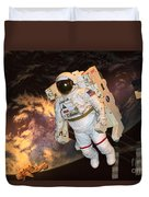 Astronaut In A Space Suit Duvet Cover