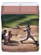 At Bat Duvet Cover