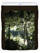 At Home In The Woods Duvet Cover