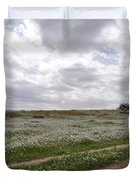At Lachish Anemone Fields Duvet Cover
