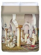 At Prayer In The Mosque Duvet Cover
