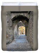 At The End Of The Passageway Duvet Cover