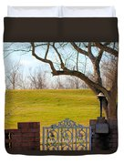 At The Levee Duvet Cover