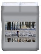 At The Pier Duvet Cover
