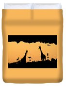 At The Waterhole Duvet Cover